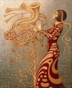 """Saatchi Art Artist Boris Indrikov; Painting, """"Elphonium"""" #art"""