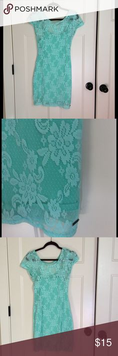 Hollister Bodycon Dress Lace, worn once to a concert. Great condition! Hollister Dresses Mini