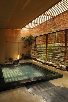 Our top 15 favourite ryokan inns Japanese Bath House, Japanese Style House, Japanese Bathroom, Japanese Sauna, Japanese Living Rooms, Traditional Japanese House, Japanese Architecture, Architecture Design, Pavilion Architecture