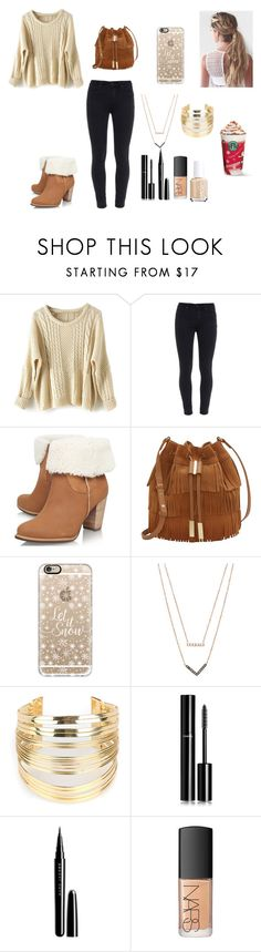 """Winter weather"" by menna121 ❤ liked on Polyvore featuring Paige Denim, UGG Australia, Vince Camuto, Casetify, Michael Kors, WithChic, Chanel, Marc Jacobs, NARS Cosmetics and Essie"
