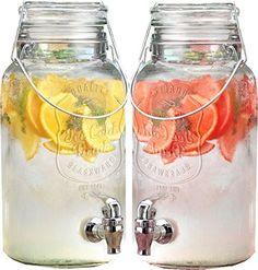 Set Of 2 4 Litre Large Kilner Type Mason Ice Cold Quality Drinks Clip Top Storage Drink Ice Preserving Wine Beverage Dispenser Jar With Tap Get Goods http://www.amazon.co.uk/dp/B00T38S7BE/ref=cm_sw_r_pi_dp_SAlsvb0HQ85P2