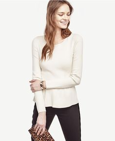 Primary Image of Peplum Pullover