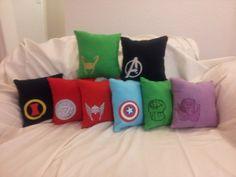 Avengers Pillow: Movie Set on Etsy, $9.00
