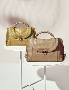 Gorgeous lines, supple saddle craftsmanship, and superb details, like our signature Gancio closure. Introducing the Soft Sofia, a new handbag series from the Ferragamo Spring 2017 collection.