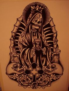 Tattoo art: Death tattoos: Santa Muerte - origins and significations
