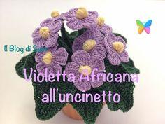 Spiegazione della Violetta Africana all'uncinetto - YouTube