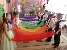 rainbow scarf dance with partner