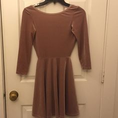 American Apparel Velvet Skater Dress Brand new dress, never worn, size small.  Super flattering! I am just not crazy about it being backless. American Apparel Dresses Mini