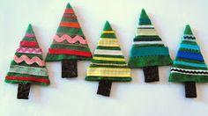 Ruby Murrays Musings: Xmas Decoration Tutorial - Beribboned Trees