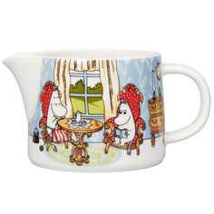 Moomin Afternoon in parlor pitcher l by Arabia - The Official Moomin Shop Moomin House, Moomin Shop, Moomin Mugs, Moomin Valley, Tove Jansson, Ceramic Figures, Motif Design, Milk Jug, Home Decor Kitchen