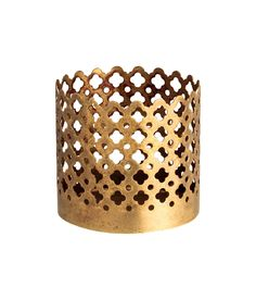 Check this out! Small, cylindrical tealight holder in metal with a perforated pattern. Diameter 2 1/4 in., height 2 1/4 in. - Visit hm.com to see more.