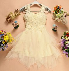 Pearl embroidered dress