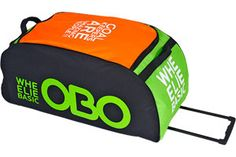 New OBO WHEELIE Basic Goalie Bag! Orange and Green - From OBO & CranBarry Field Hockey