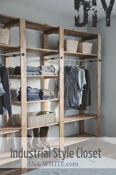 27 Ideas white wood shelf furniture plans for 2019 Diy Wardrobe, Wardrobe Storage, Clothes Storage, Bedroom Wardrobe, Diy Clothes, Bedroom Closets, Wardrobe Ideas, Shelf Furniture, Furniture Plans