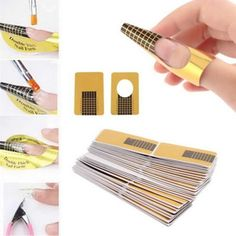 Creazy 100Pcs Nail Art Tips Extension Forms Guide French DIY Tool Acrylic UV Gel *** Read more at the image link.