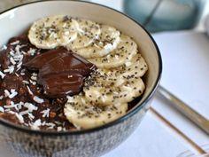 Porridge crémeux banane chocolat vegan - Le Petit Monde d'Elodie