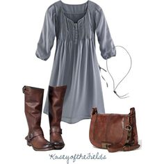 Winter gray dress
