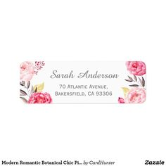 Return Address Labels Black And White Wedding Design Works With