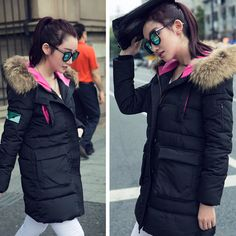 winter women jacket cotton padded clothing down parka overcoat casual Large Fur Plus Size Thickening Long coat Outwear 9Y14DL-in Down & Parkas from Women's Clothing & Accessories on Aliexpress.com US $35