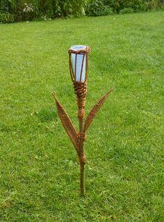 Weideleuchte, Kerzenleuchte, florales Design-blau von mehrvomgarten auf DaWanda.com