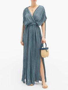 Blue Aura, Beach Wear Dresses, Blue Fashion, Amazing Women, Beachwear, Designer Dresses, Wrap Dress, Women Wear, Cotton
