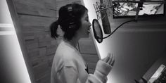 IU beautifully records her new track in 'Dear Name' MV teaser http://www.allkpop.com/article/2017/04/iu-beautifully-records-her-new-track-in-dear-name-mv-teaser