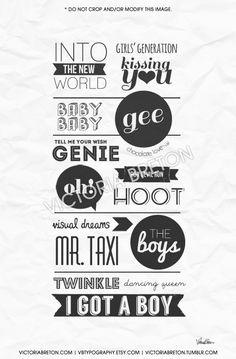 Girls' Generation - 8x10, 11x17 typography print, kpop, korean, kawaii, so nyeo shi dae, college dorm room decor, christmas #girlsgeneration #snsd taeyeon tiffany jessica seohyun sunny yuna yuri hyoyeon sooyoung