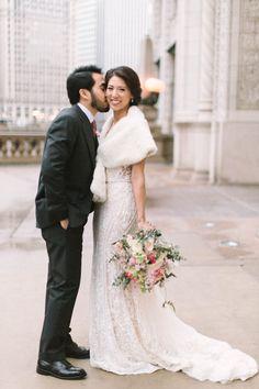 Featured Photographer: Kate Weinstein Photography; Wedding dresses ideas. Gorgeous Wedding Dress, Dream Wedding Dresses, Bride Look, Mod Wedding, Queen, Chicago Wedding, Groom Dress, Wedding Inspiration, Wedding Ideas