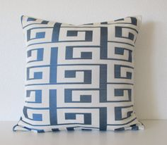 Decorative pillow cover  20x20  Blue  Greek by chicdecorpillows, $50.00