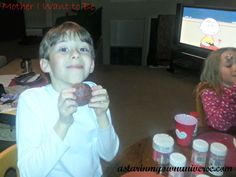 Valentines Day Family Night -- cupcakes and Charlie Brown! <3