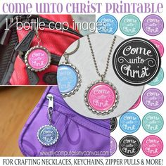 YW Come Unto Christ 2014 Bottle Cap by mycomputerismycanvas