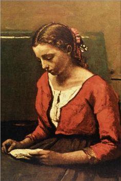 Girl Reading - Camille Corot