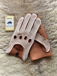 Driving Leather Gloves from the famous Peccary leather for mens.The peccary…