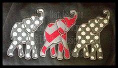 Alabama A Embroidery Design | Elephant Trio Applique Embroidery Design by SillyCatDesigns