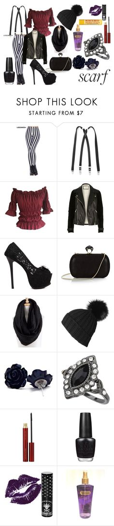 """Winter Scarf"" by jessieholloway13 on Polyvore featuring River Island, DVF, Miss Selfridge, Kevyn Aucoin, OPI, Manic Panic and Victoria's Secret"