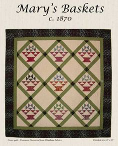 Mary's Basket c 1870 Pattern