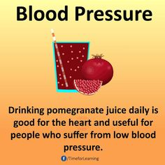 Lower Blood Pressure Remedies Drinking pomegranate juice daily is good for the heart and useful for people who suffer from low blood pressure. Good Health Tips, Natural Health Tips, Health And Beauty Tips, Healthy Tips, How To Stay Healthy, Healthy Herbs, Natural Healing, Eating Healthy, Healthy Food