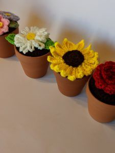 Potted Crochet Flowers – To Craft A Home