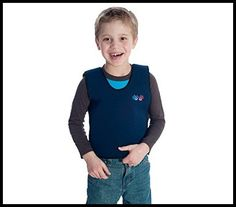 The weighted compression vest is made to calm and provide steady proprioceptive input, as the combined pressure and weight functions as a reassuring deep hug. Anxiety In Children, Children With Autism, Weighted Vest Autism, Expressive Language Disorder, Proprioceptive Input, Compression Vest, Natural Remedies For Heartburn, Sensory Issues, Sensory Integration