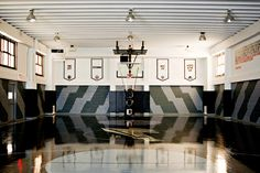 Masaryk Gym in NYC - Basketball Court or Art?!?