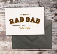 Freebie: 'Rad Dad' free Father's Day card by Maiko Nagao