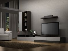 CREATECH DESIGN / HOME ENTERTAINMENT UNIT - The pure refined lines of the SYNÉ collection will transform your décor into a unique space. The SYNÉ collection is offered in a variety of predetermined configurations, but can also be adapted to convey your own specific designs. #homecinema #homeentertainment #hometheater #tvstand #tv #television #design #style #modern #contemporary