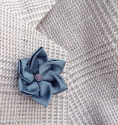 Silk Boutonniere Mens Lapel Pin Flower Lapel Pin Blue Lapel Flower Kanzashi Brooch Custom Lapel Pins Men Groomsmen Gifts For Him Wedding by exquisitelapel on Etsy https://www.etsy.com/listing/508366172/silk-boutonniere-mens-lapel-pin-flower