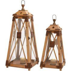 2 Piece Bayview Lantern Set