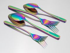 Rainbow Flatware Set with Napkin