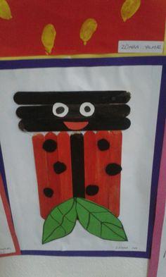 popsicle stick ladybug craft