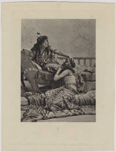 Book Plate of Sarah Bernhardt, 'Cleopatra' :: Hansen Performing Arts Collection. UNCG Special Collections