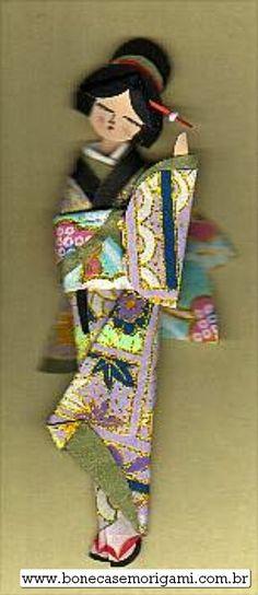 Boneca Japonesa - Japanese Paper Doll