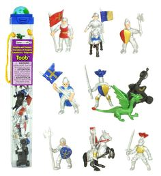 Amazon.com: Safari Ltd 699904 Knights & Dragons Toob Hand Painted Toy Miniature Figurines (Set of 10): Toys & Games