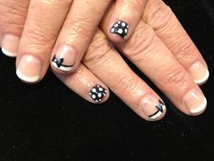 Blk/Wht w/bows & polka dots Nails 2013